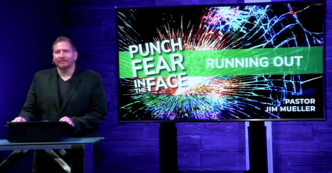 Punch Fear in the Face Running Out