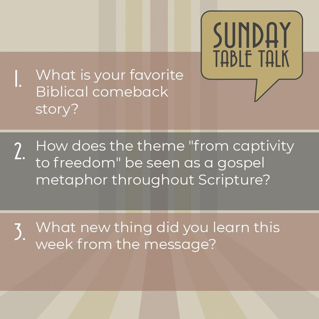 Messiah St. Charles Table Talk