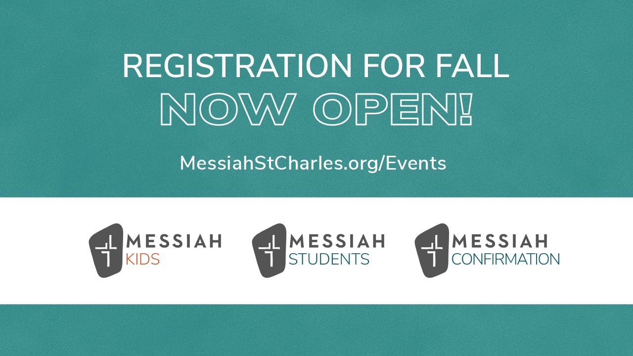 Registration for Messiah St. Charles Events